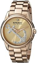 Sperry Women's 10018657 Audrey Anchor Stainless Steel Gold-Tone Watch
