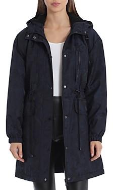 AVEC LES FILLES Faux Fur Lined Hooded Rain Anorak