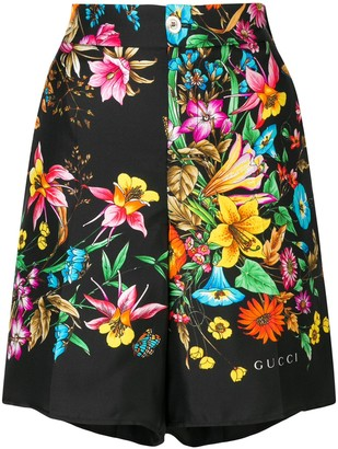 Gucci Floral Pattern Shorts