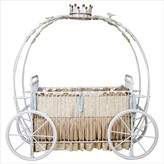 The Well Appointed House Cinderella's Princess Carriage Crib with Crown