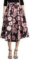 Milly Jackie Floral-Print Midi Skirt