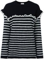 RED Valentino ruffled striped jumper