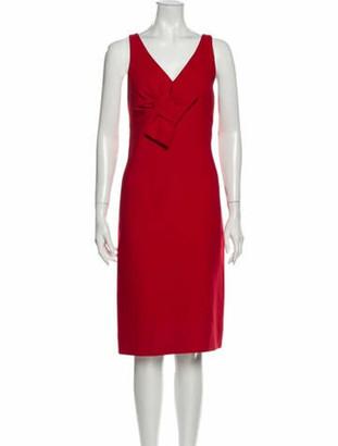 Valentino Virgin Wool Midi Length Dress Wool