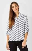 NEW Fate + Becker Womens Blouses Voyage Shirt Stripe