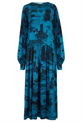 Klements Dusk Dress In Doomed Voyage Print