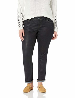 SLINK Jeans Women's Plus Size Sadie Coated STRAIGHTLEG 16