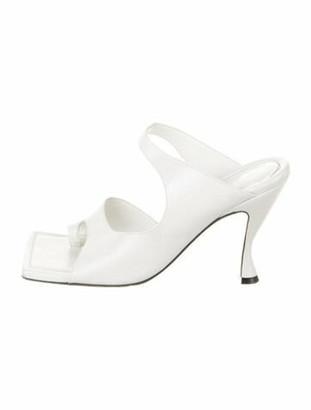 Bottega Veneta Toe Ring Leather Slides White