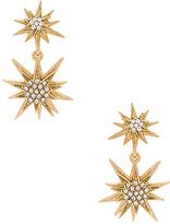 Elizabeth Cole Bianca Earring in Metallic Gold.