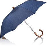 Barneys New York Men's Dotted Folding Umbrella