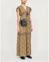 BA&SH Samanta abstract-print crepe maxi dress