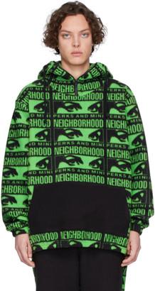 Perks And Mini Black and Green Neighborhood Edition Hoodie