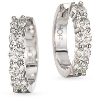 Hearts On Fire Diamond & 18K White Gold Hoop Earrings