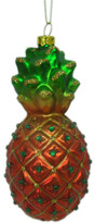 Christmas Shop Orn-Glass Pineapple Multi