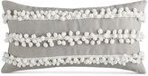 """Bar III Pom Pom Stripe 10"""" x 20"""" Decorative Pillow"""