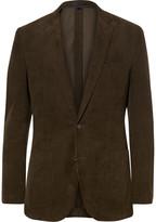 J.Crew Green Ludlow Slim-Fit Cotton-Corduroy Blazer
