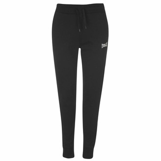 Everlast Womens Jogging Bottoms Jersey Trousers Pants Breathable Lightweight Black 14 (L)