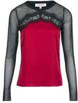 Morgan Top With Lace And Tulle Panel