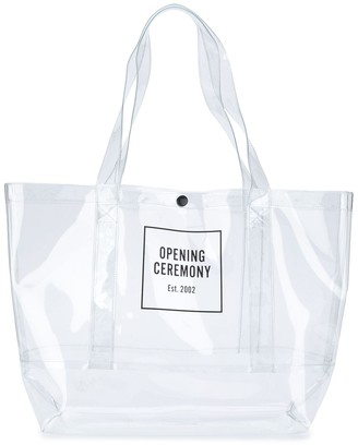 Opening Ceremony Box Logo Print Shopper Tote Bag