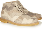 Stella McCartney Camouflage-print canvas ankle boots