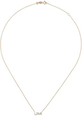Kismet by Milka 14kt rose gold Love diamond necklace