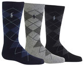 Ralph Lauren Childrenswear Three-Pack Argyle Slack Socks