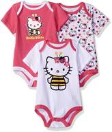 Hello Kitty Girls' 3 Pack Boysuits