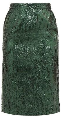 No.21 No. 21 - Sequinned Pencil Skirt - Green