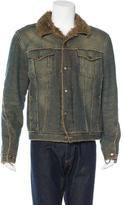 Just Cavalli Sherpa-Trimmed Denim Jacket