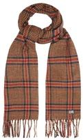 Ami Check virgin-wool scarf