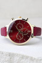 LuLu*s On the Clock Gold and Red Watch