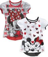 Disney Kids Shirt, Little Girls Minnie Mouse Graphic Tulip Tunic
