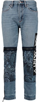 Marc by Marc Jacobs Acanthus Paneled Mid-Rise Straight-Leg Jeans