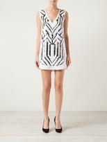 Vanessa Bruno Chevron Dress Blanc