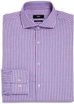 BOSS Mark Multi Check Regular Fit Dress Shirt