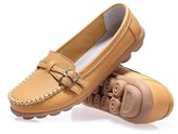 YINHAN Women's Casual Driving Loafers Nursing Shoes Slip On Boat Shoes Flats