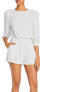 WeWoreWhat Dot Print Open-Back Romper
