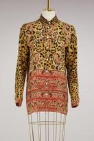 Etro Leopard printed skirt
