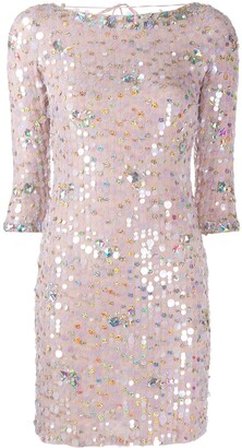 Blumarine Paillette Cocktail Dress