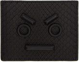 Fendi Black Python Faces Card Holder