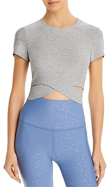 Beyond Yoga Under Over Cropped Tee
