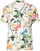 Nicole Miller butterfly print shirt