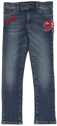 Dolce & Gabbana Stretch Cotton Denim Jeans W/ Patch