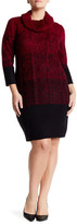 Sandra Darren Turtleneck Sweater Dress (Plus Size)