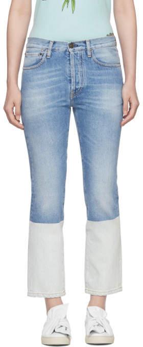 Ports 1961 Blue Contrast Bottom Jeans