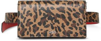 Christian Louboutin Boudoir leopard printed leather belt bag