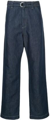 Cerruti Loose Fit Belted Jeans