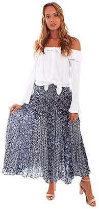 Scully Luna Flirty Lightweight Skirt (Blue) Women's Skirt