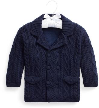 Ralph Lauren Aran-Knit Merino Cardigan Coat