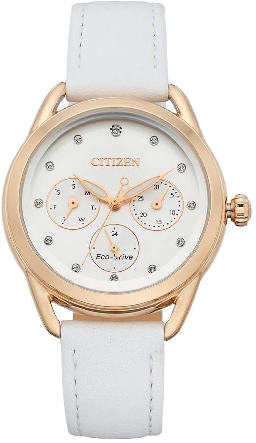 Citizen Drive From Eco-Drive Women's LTR Crystal Leather Watch - FD2053-04A