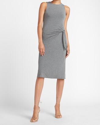 Express Sleeveless Side Tie Midi Dress